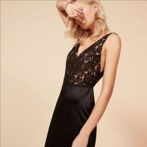 Reformation 100% Silk Aura Dress